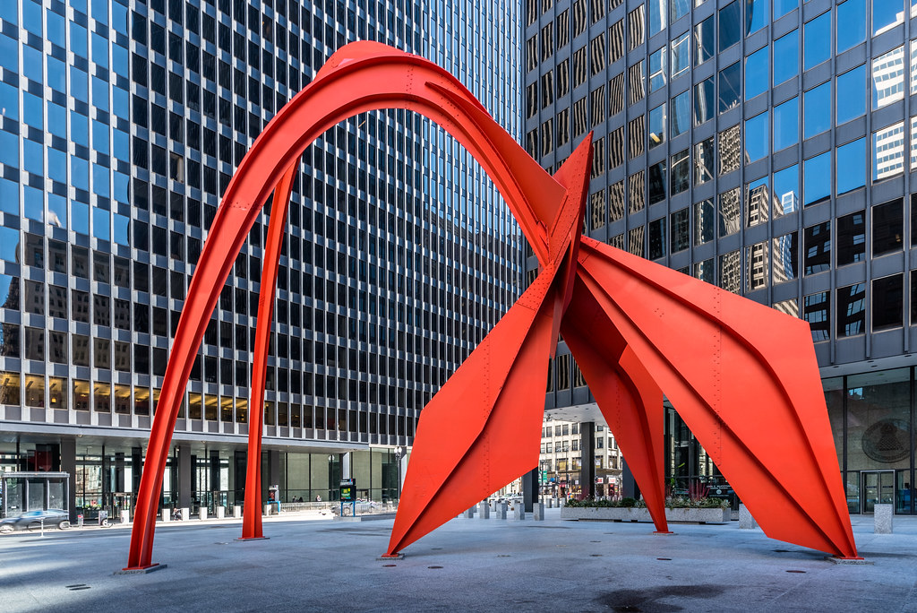 Calder S Flamingo Flamingo Created By Noted American