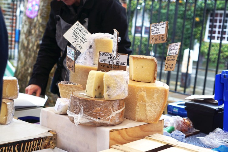 Cheese stall in Stroud Green Market | Finsbury Park | North London | My gluten free Stroud Green Market guide