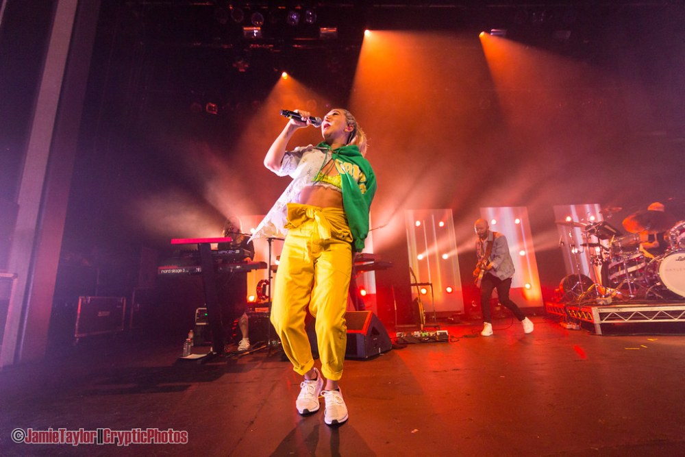 Hayley Kiyoko performing at The Vogue Theatre in Vancouver, BC on April 18th, 2018