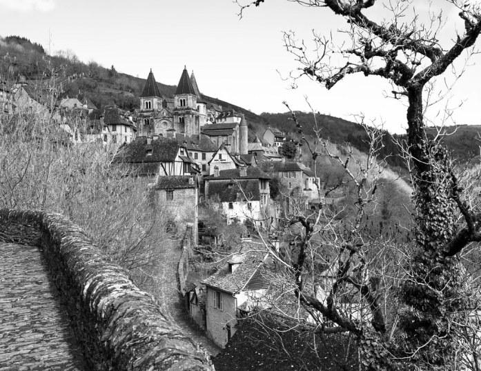 Población medieval de Conques, en el departament de l'Aveyron