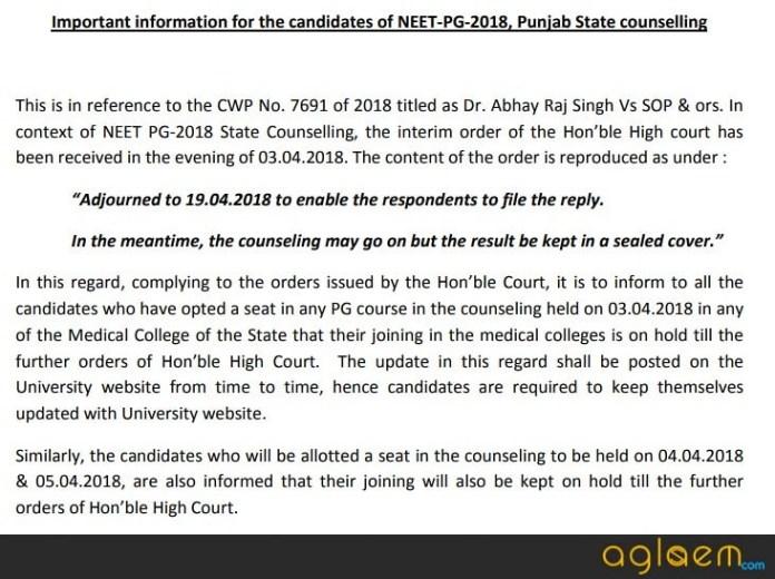 Punjab PG Medical 2018   Application Form, Eligibility, Merit List
