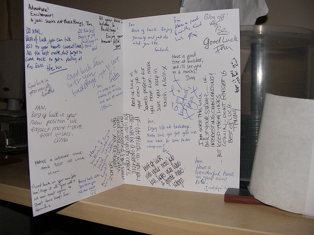 Leaving card from WSNM