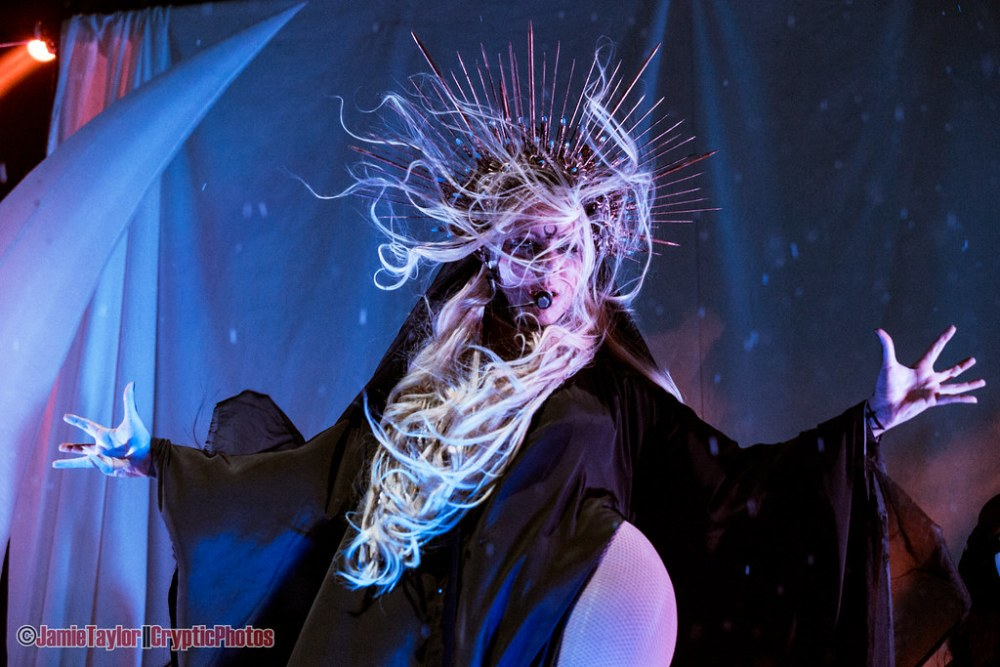 Maria Brink of In This Moment performing at Abbotsford Centre in Abbotsford, BC on April 6th 2018