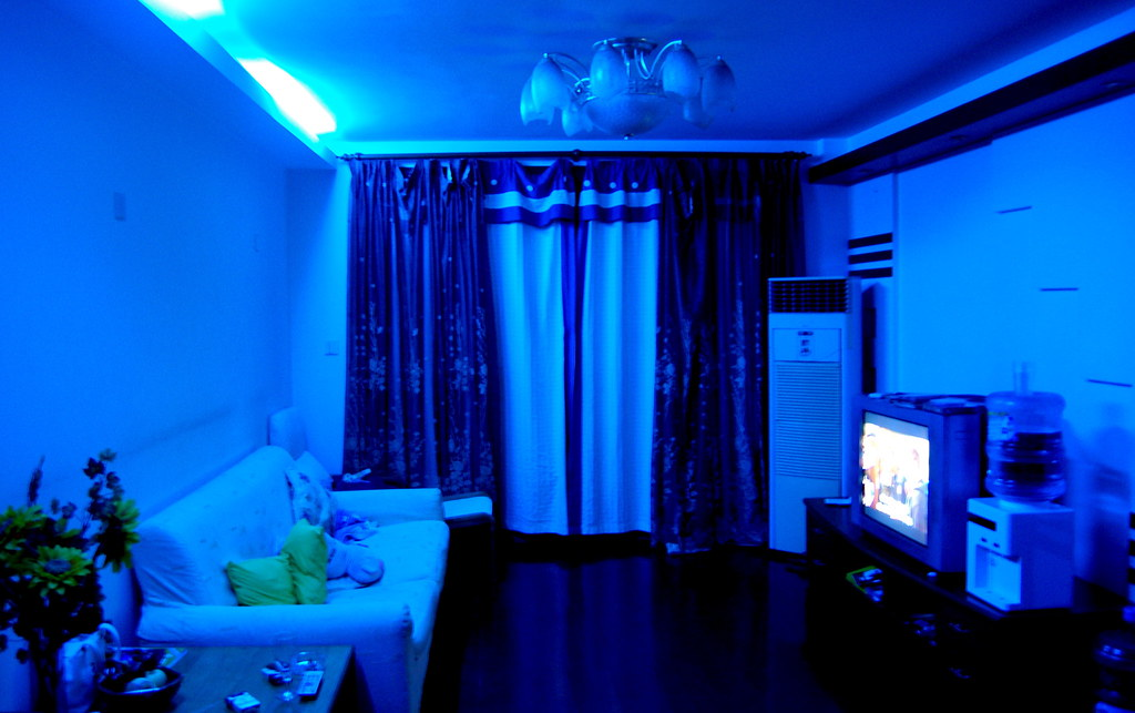 Living Room In Home Cinema Mode This Is What Our Living