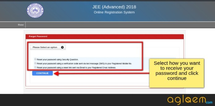 JEE Advanced 2018 Registration