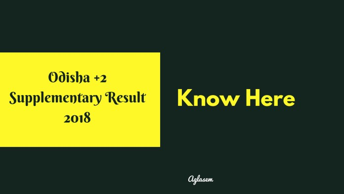 CHSE Odisha Supplementary Result for Class 12