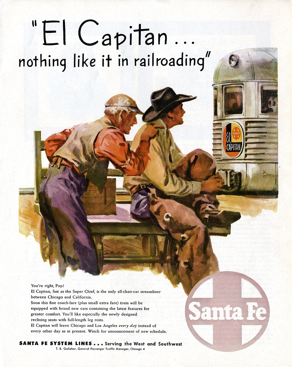 Santa Fe System Lines (Atchison, Topeka and Santa Fe Railway) - 1953