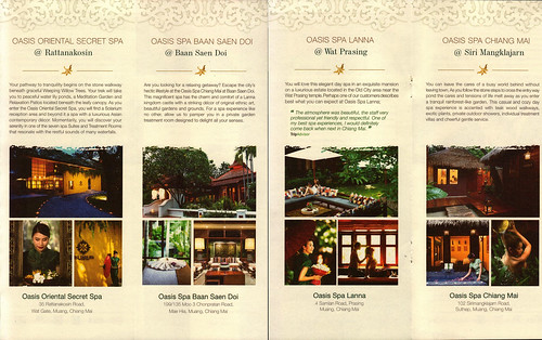 Brochure Oasis Spa Chiang Mai Thailand 2