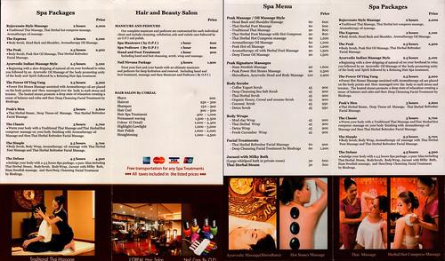 Brochure Peak Spa Chiang Mai Thailand 4