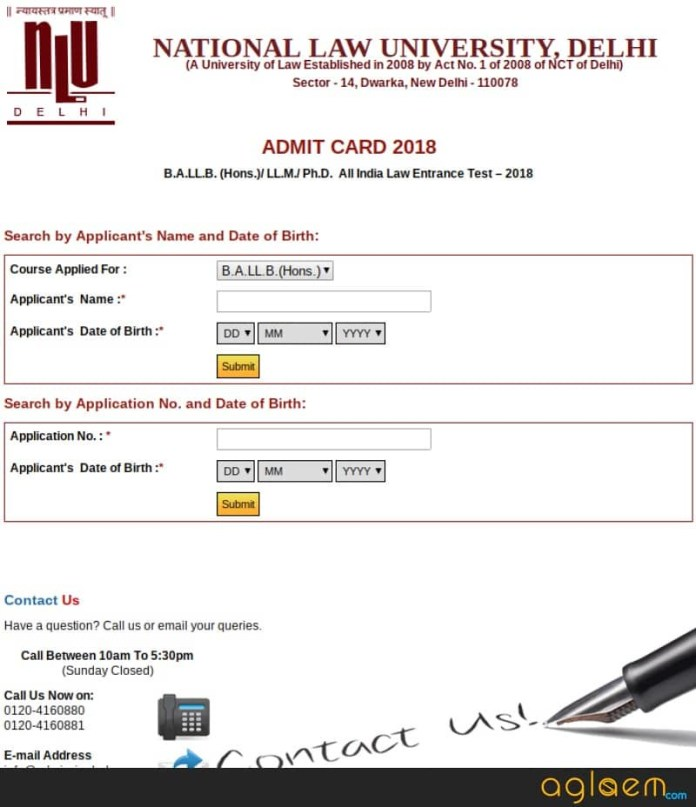 AILET 2019 Admit Card - Check Here  %Post Title | AglaSem