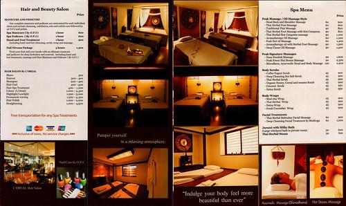 Brochure Peak Spa Chiang Mai Thailand 3