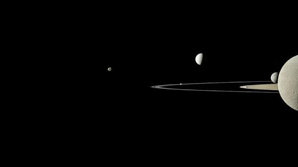 Group Portrait | On July 29, 2011, Cassini captured five ...
