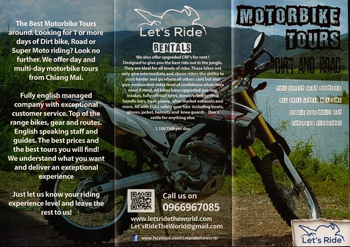 Brochure Lets Ride Motorbike Tours Chiang Mai Thailand 1