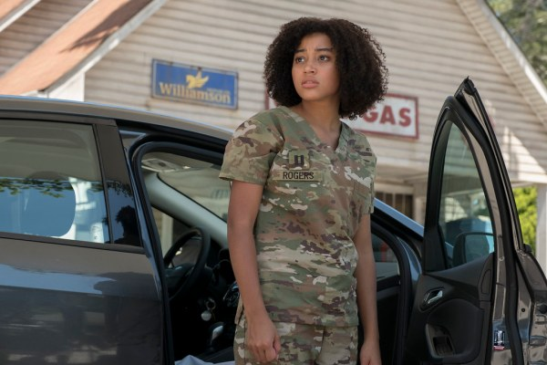 Amandla Stenberg plays Ruby, an
