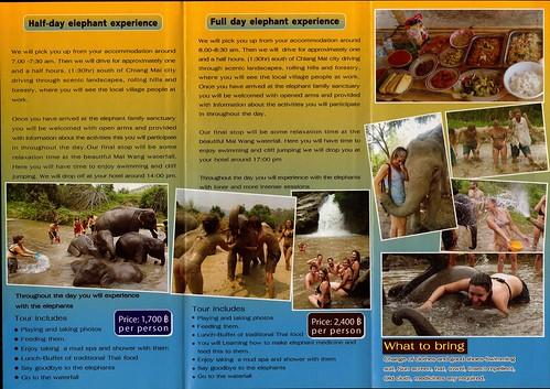Elephant Family Sanctuary Chiang Mai Thailand Brochure 2