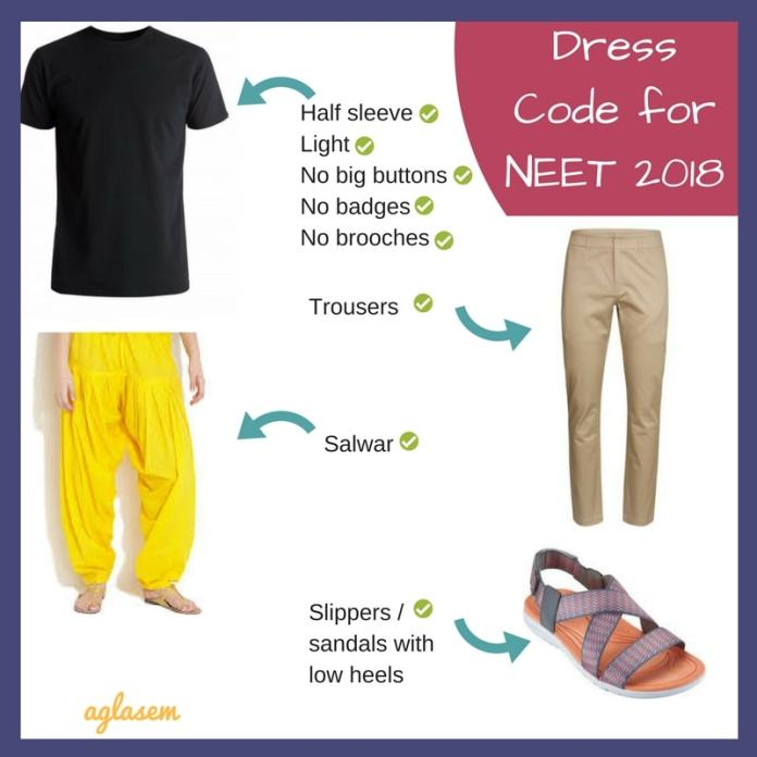 NEET 2018 Dress Code Male / Female [Complete List, Images, Video]