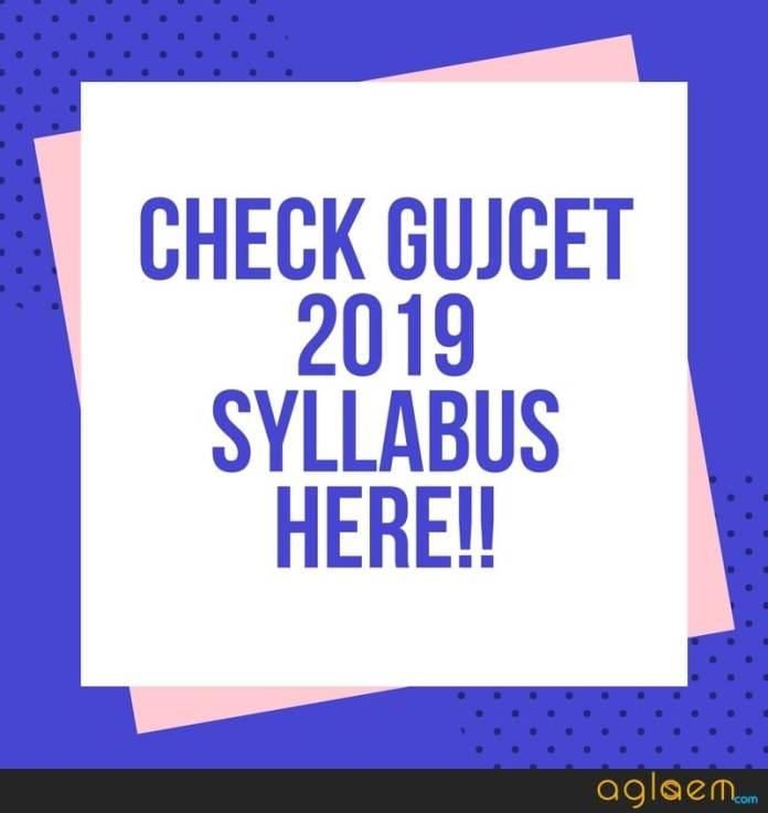GUJCET 2019 Syllabus
