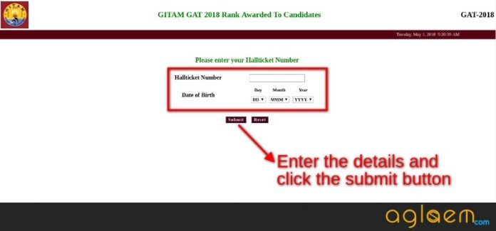 GITAM GAT 2018 Result
