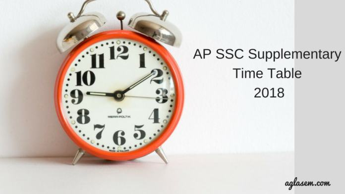 AP SSC Supplementary Time Table 2018