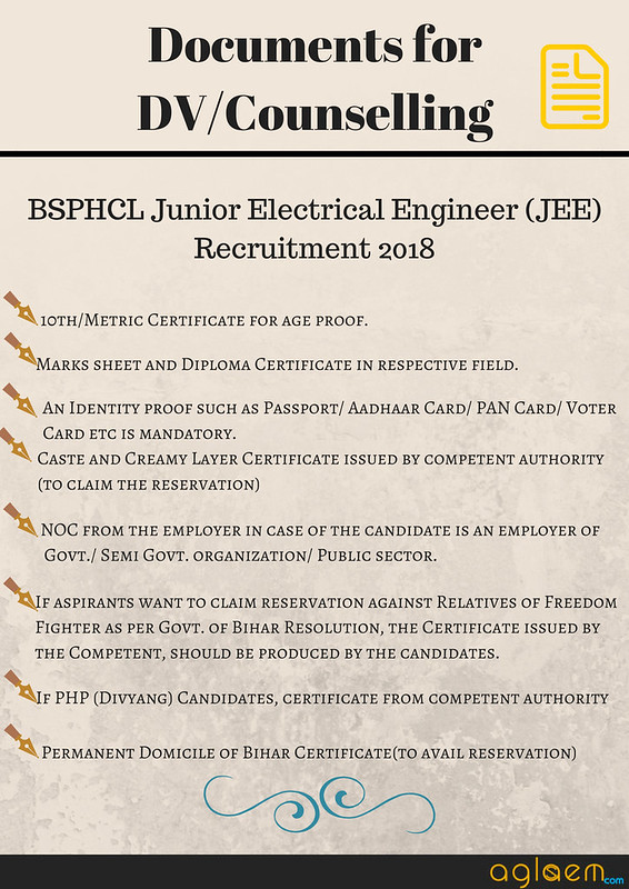 BSPHCL Junior Electrical Engineer (JEE) Recruitment 2018