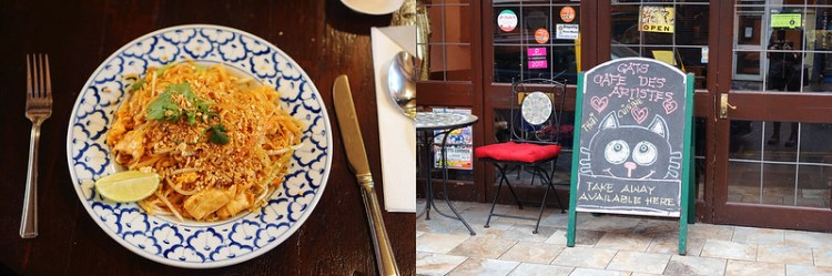 Cats Cafe Des Artistes | Gluten free Coeliac friendly Thai food in Finsbury Park | Stroud Greed | My gluten free Finsbury Park guide