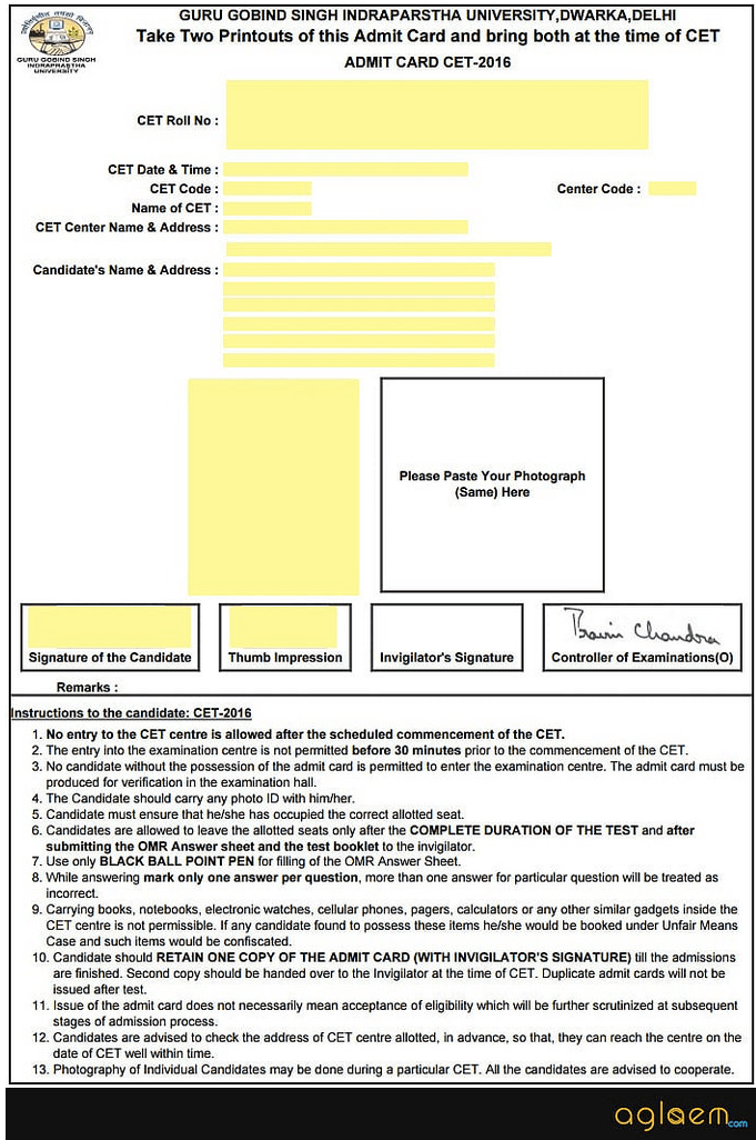 IPU CET Law 2018 Admit Card - Download Here  %Post Title | AglaSem
