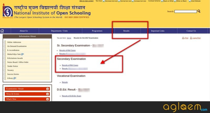 NIOS 12th Result April 2018