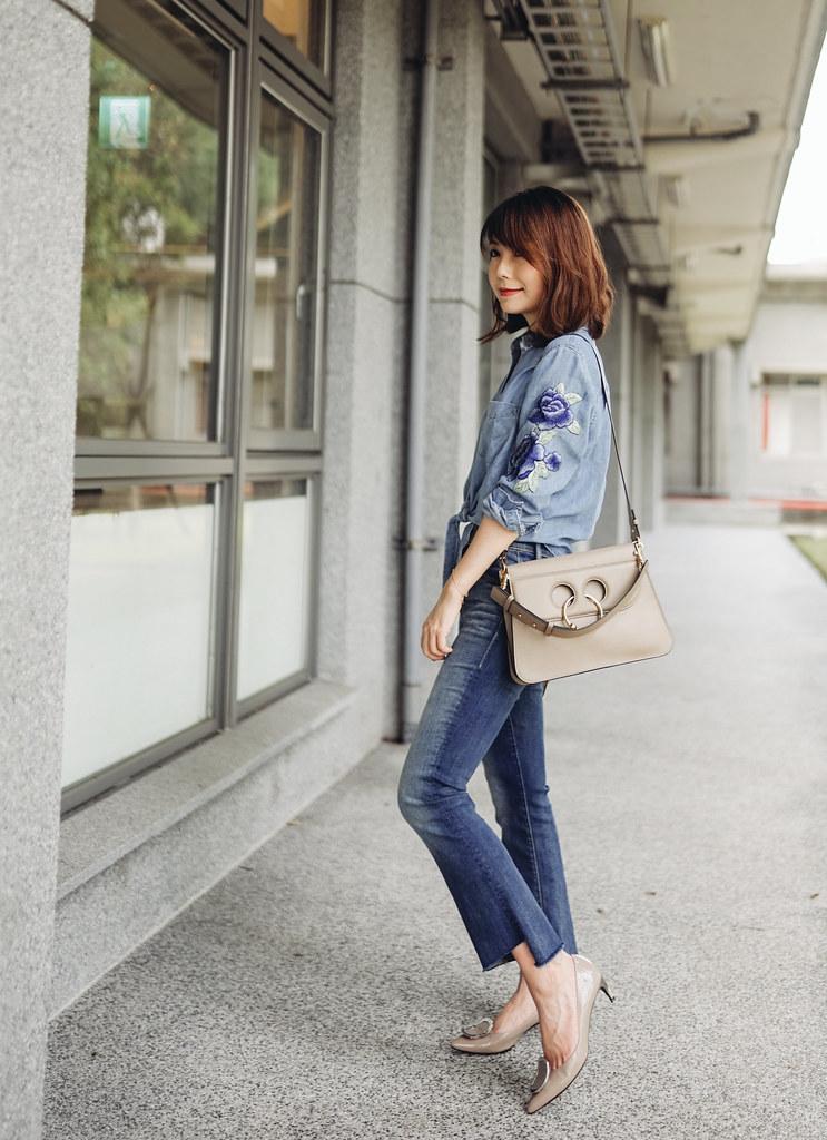 ▌Outfit ▌Rails繡花襯衫兩穿:JW Anderson Pierce Bag + Givenchy GV3 大降價