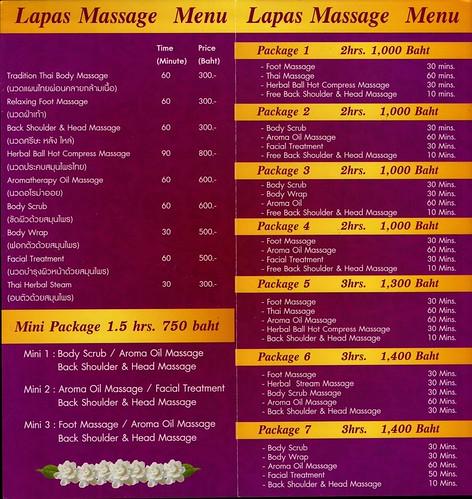 Brochure Lapas Massage Chiang Mai Thailand 2