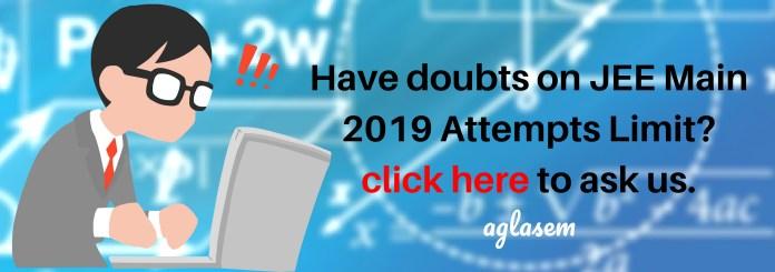 JEE Main 2019 Attempts Limit
