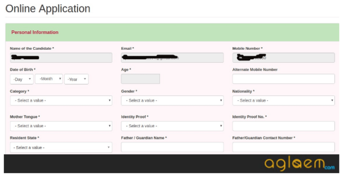 SAAT Application Form 2019