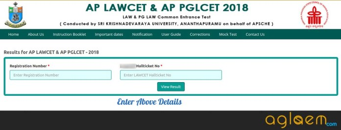 AP PGLCET 2019 Result