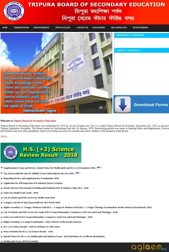 Tripura Board Madhyamik Exam Routine 2019