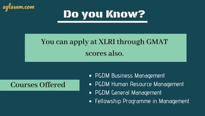 XLRI through GMAT
