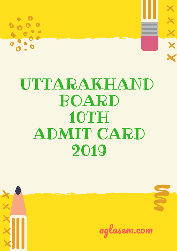 Uttarakhand Board 10th Admit Card 2019