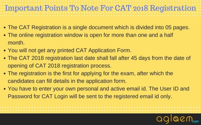 CAT 2018 Registration