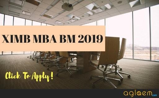 XIMB MBA Admission 2019