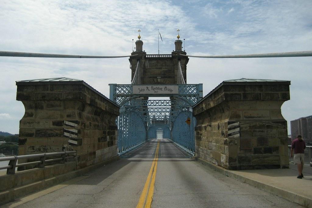 Cincinnati Covington And Cincinnati Suspension Bridge