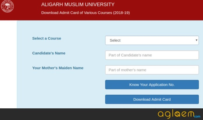 AMU MBA 2019 Admit Card - Get Here AMU Admit Card For MBA exam  %Post Title, %Post Category, AglaSem