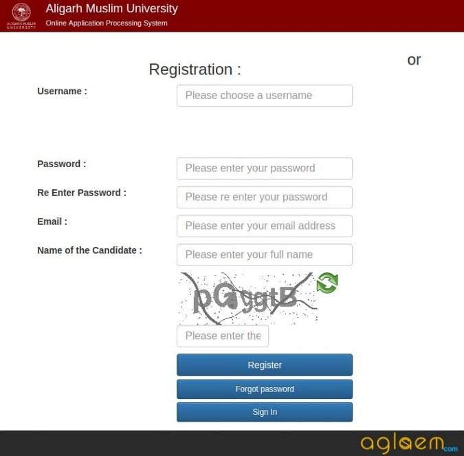 AMU MBA 2020 Registration