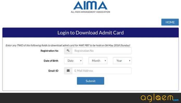 AIMA MAT 2018 Admit Card