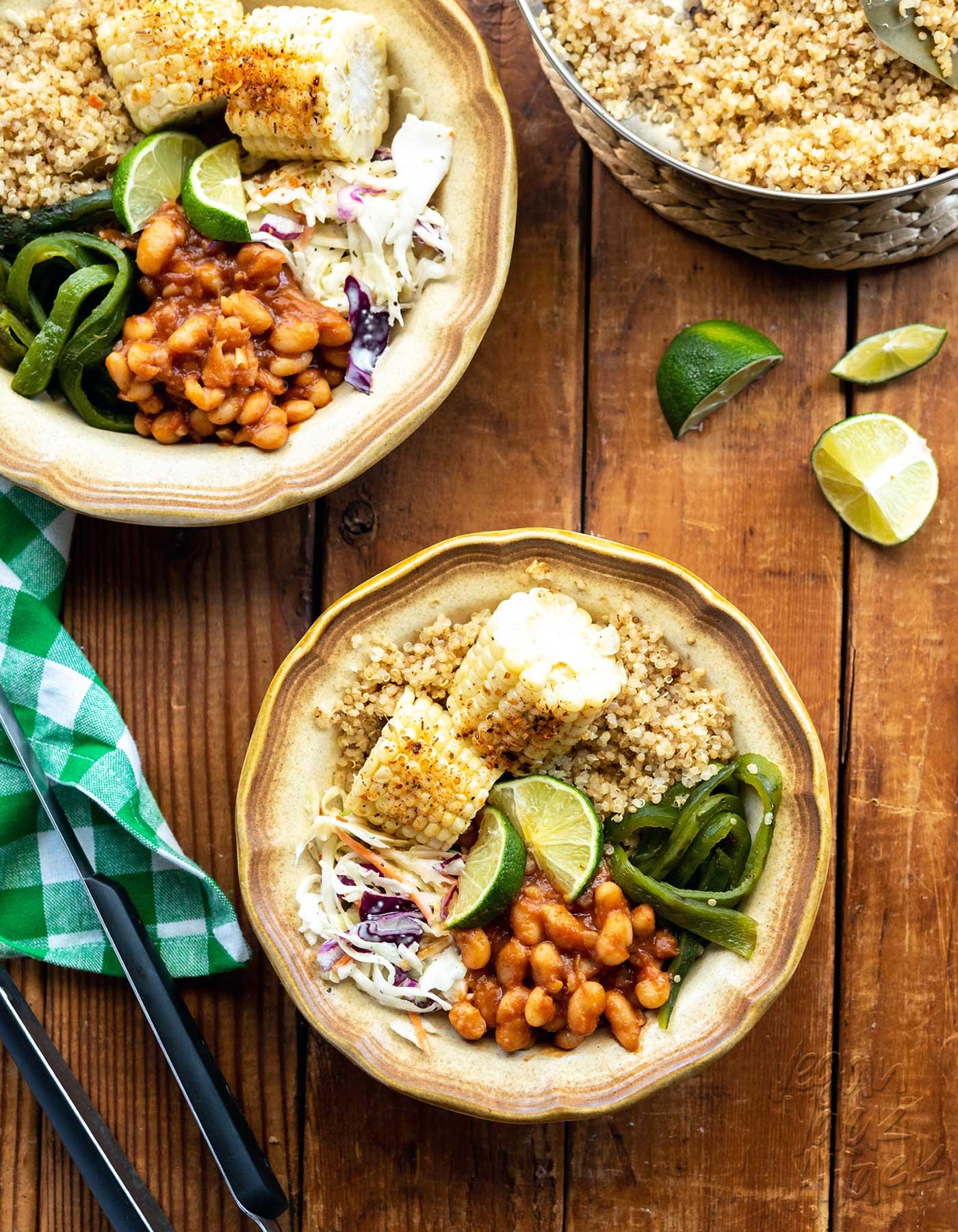 Vegan BBQ Bean Bowls