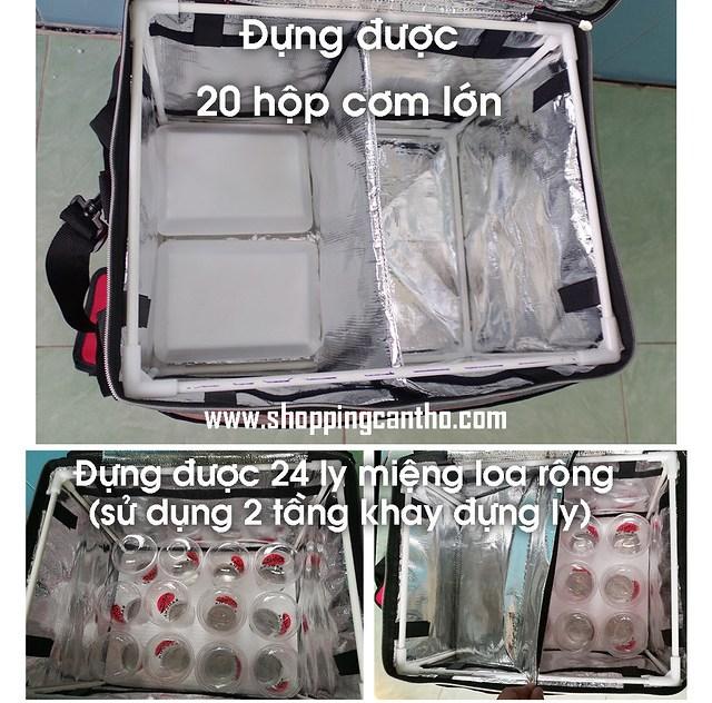 Túi giữ nhiệt lớn túi nóng túi lạnh đựng thực phẩm Cần Thơ