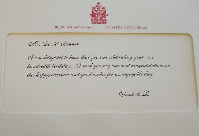 Birthday WIshes From The Queen Closeup I Am Delighted