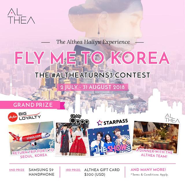 Althea Turns 3 Fly Me to Korea Contest