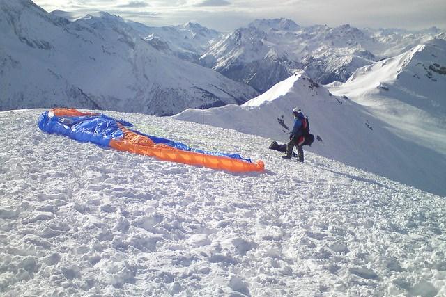 Paragliding, La Plagne