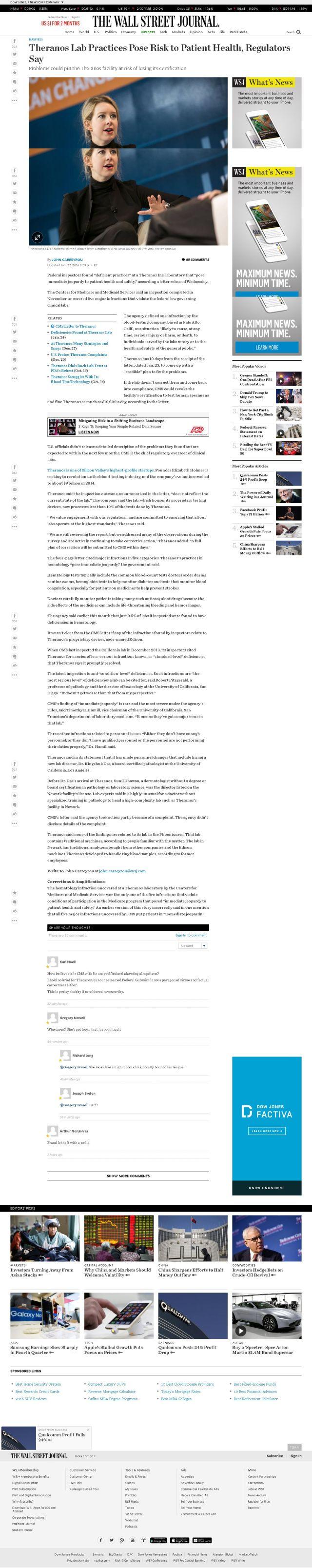 Unlocked WSJ Article Screenshot