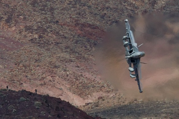 F-18 jet in Death Valley
