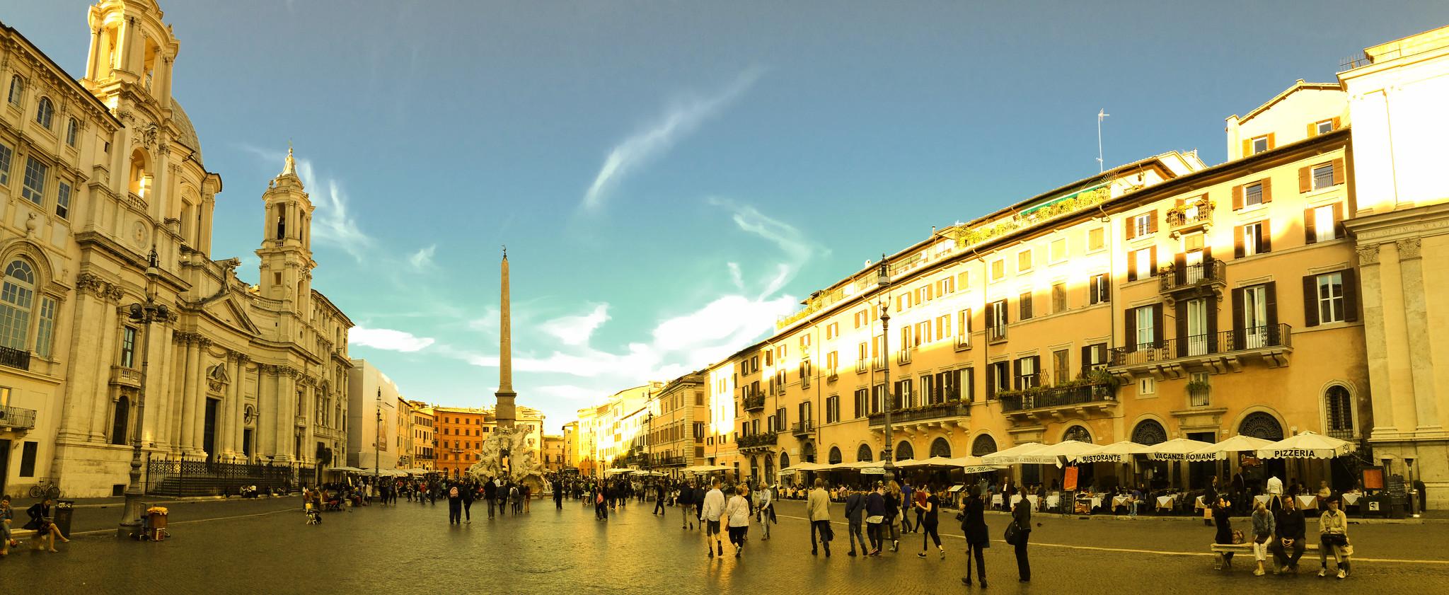 Piazza Navona , central Rome's elegant showcase square.