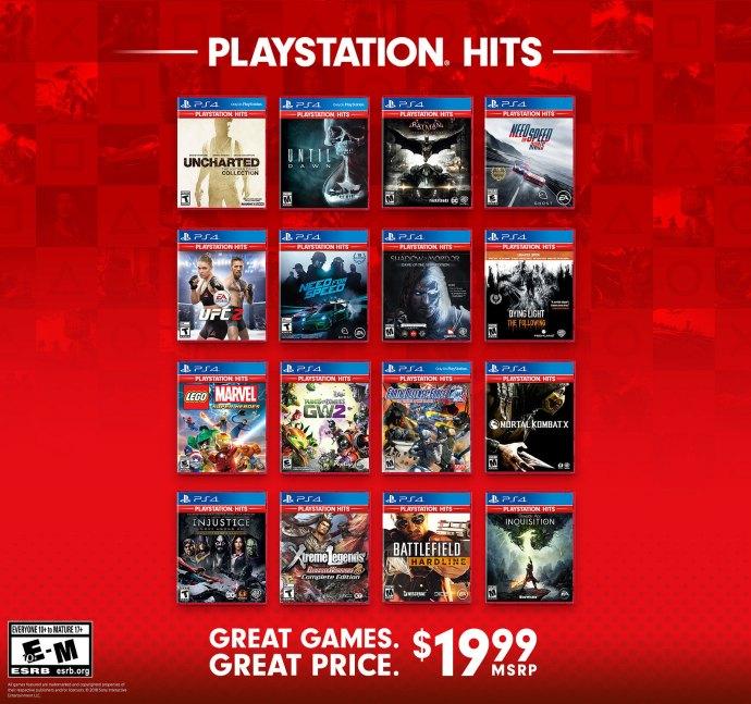 danh sách PlayStation Hits tháng 11